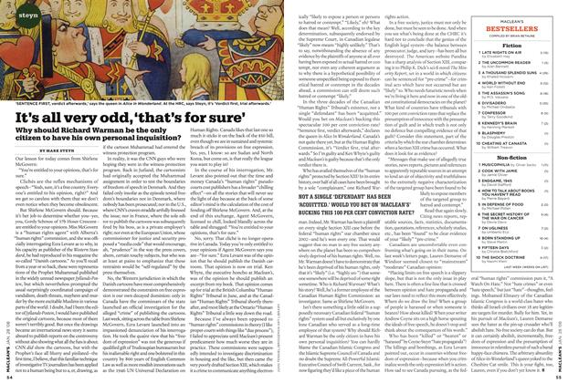 Article Preview: It's all very odd, 'that's for sure', JAN. 28th 2008 2008 | Maclean's
