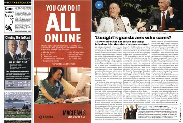 Article Preview: Tonight's guests are: who cares?, JAN. 28th 2008 2008 | Maclean's