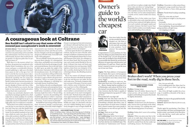 Article Preview: A courageous look at Coltrane, JAN. 28th 2008 2008 | Maclean's