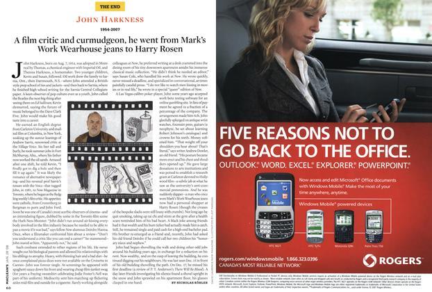 Article Preview: JOHN HARKNESS 1954-2007, JAN. 28th 2008 2008 | Maclean's
