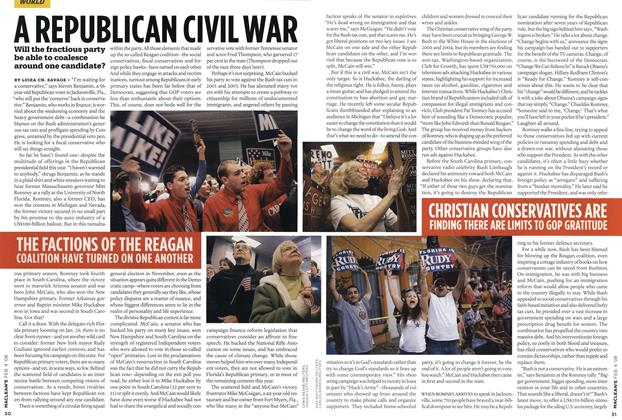 Article Preview: A REPUBLICAN CIVIL WAR, FEB. 4th 2008 2008 | Maclean's