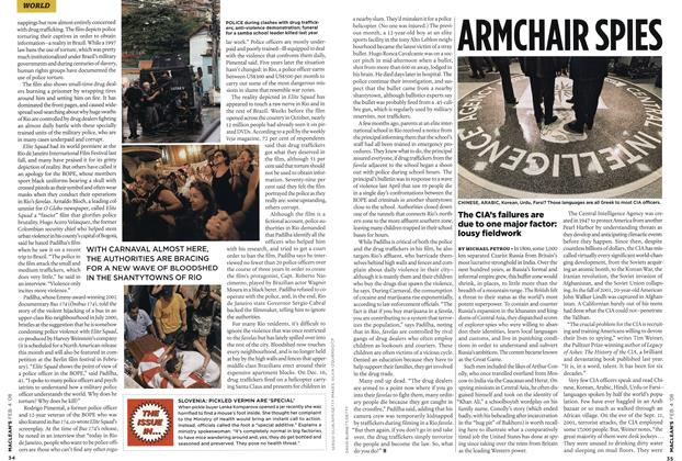 Article Preview: ARMCHAIR SPIES, FEB. 4th 2008 2008 | Maclean's