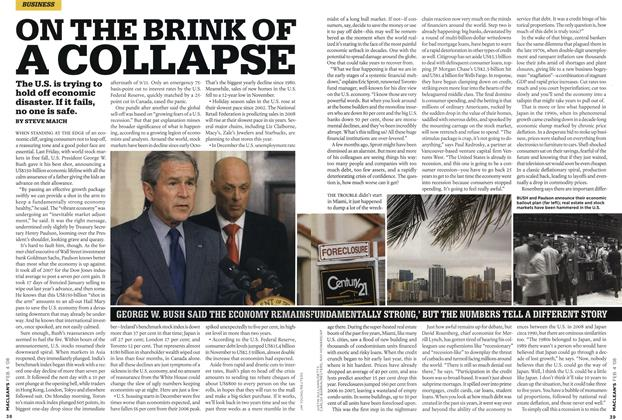 Article Preview: ON THE BRINK OF A COLLAPSE, FEB. 4th 2008 2008 | Maclean's