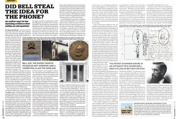 Article Preview: DID BELL STEAL THE IDEA FOR THE PHONE?, FEB. 4th 2008 2008 | Maclean's