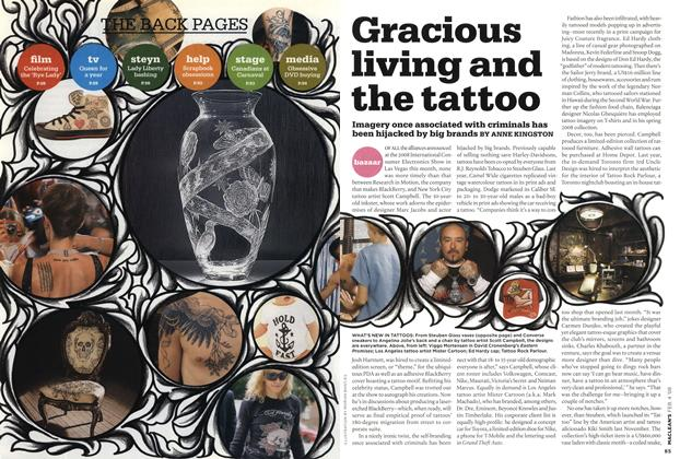 Article Preview: Gracious living and the tattoo, FEB. 4th 2008 2008 | Maclean's