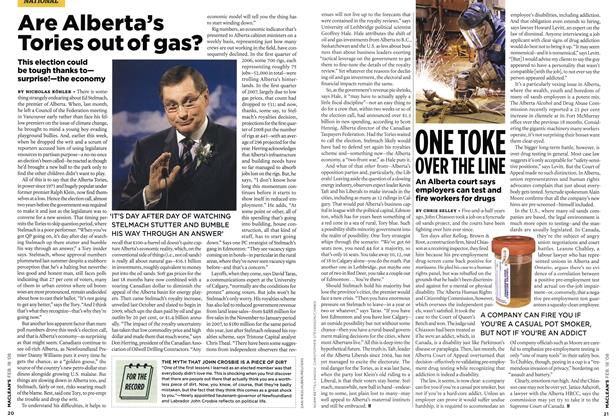 Article Preview: Are Alberta's Tories out of gas?, FEB. 18th 2008 2008 | Maclean's