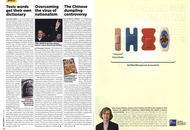 Article Preview: The Chinese dumpling controversy, FEB. 18th 2008 2008 | Maclean's