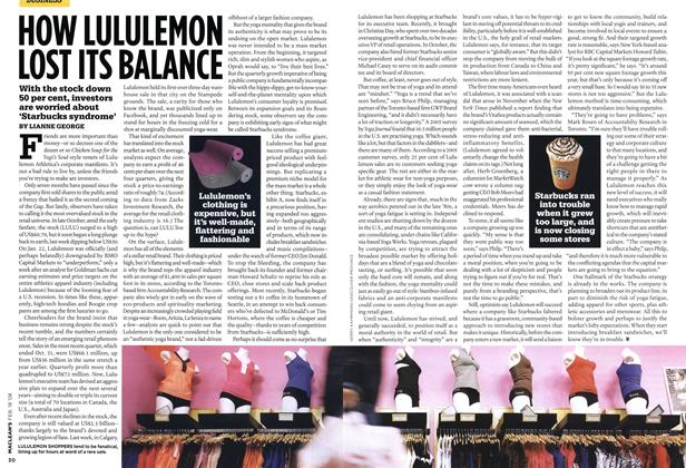 Article Preview: HOW LULULEMON LOST ITS BALANCE, FEB. 18th 2008 2008 | Maclean's