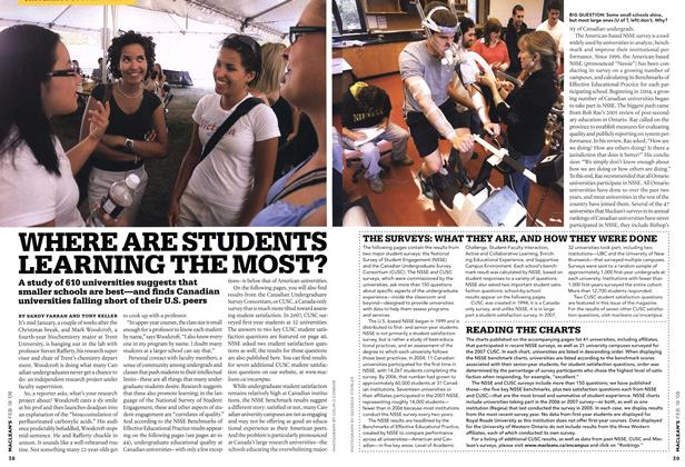 Article Preview: WHERE ARE STUDENTS LEARNING THE MOST?, FEB. 18th 2008 2008 | Maclean's