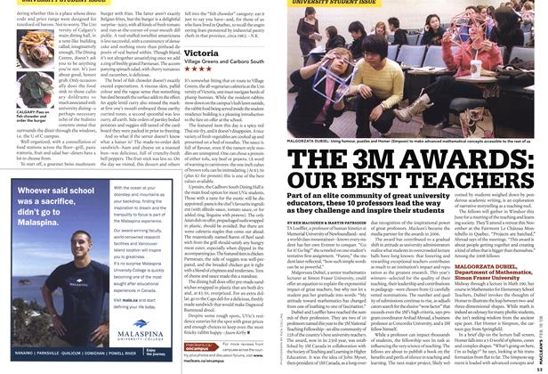 Article Preview: THE 3M AWARDS: OUR BEST TEACHERS, FEB. 18th 2008 2008 | Maclean's