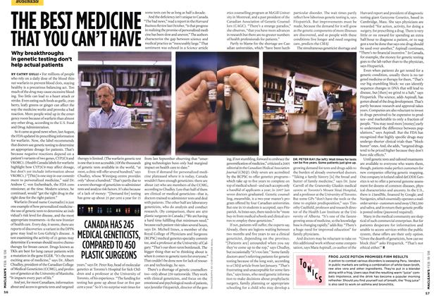 Article Preview: THE BEST MEDICINE THAT YOU CAN'T HAVE, FEB. 18th 2008 2008 | Maclean's