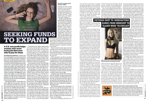 Article Preview: SEEKING FUNDS TO EXPAND, FEB. 18th 2008 2008 | Maclean's