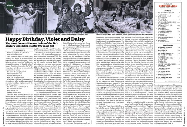 Article Preview: Happy Birthday, Violet and Daisy, FEB. 18th 2008 2008 | Maclean's