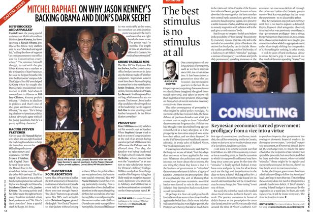 Article Preview: The best stimulus is no stimulus at all, FEB. 18th 2008 2008 | Maclean's