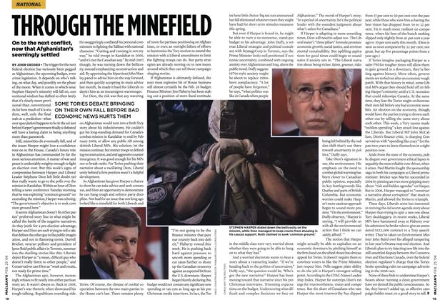 Article Preview: THROUGH THE MINEFIELD, FEB. 25th 2008 2008 | Maclean's