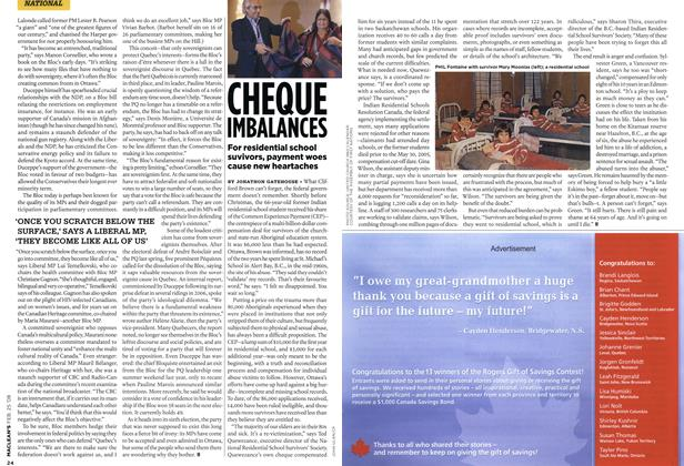 Article Preview: CHEQUE IMBALANCES, FEB. 25th 2008 2008 | Maclean's