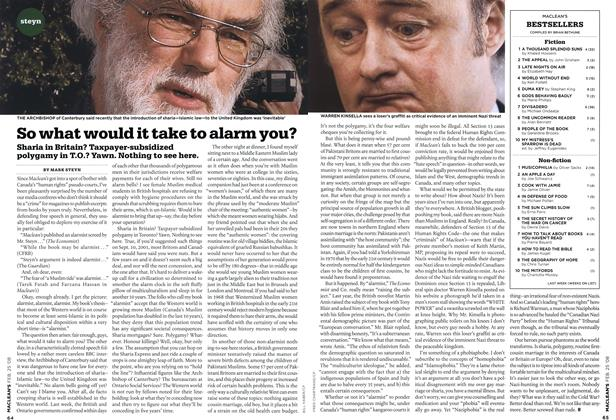 Article Preview: So what would it take to alarm you?, FEB. 25th 2008 2008 | Maclean's