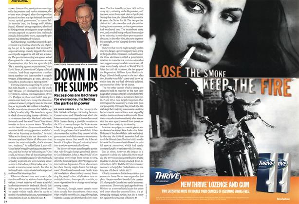 Article Preview: DOWN IN THE SLUMPS, MAR. 3rd 2008 2008 | Maclean's