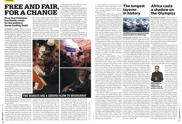 Article Preview: FREE AND FAIR, FOR A CHANGE, MAR. 3rd 2008 2008 | Maclean's