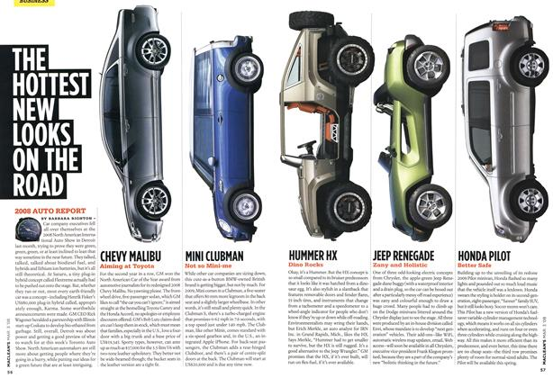 Article Preview: THE HOTTEST NEW LOOKS ON THE ROAD, MAR. 3rd 2008 2008 | Maclean's