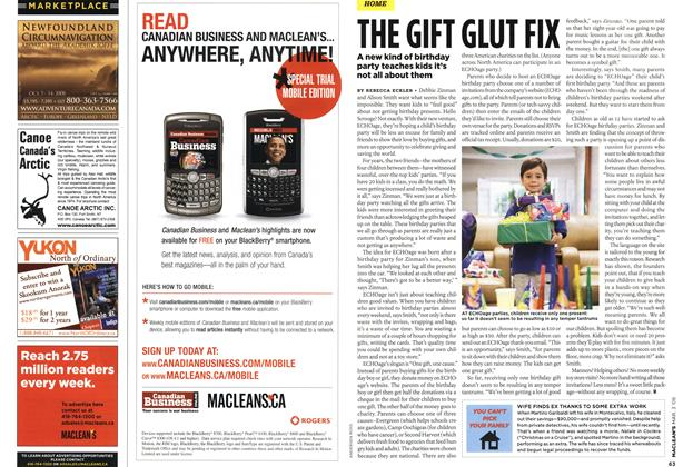 Article Preview: THE GIFT GLUT FIX, MAR. 3rd 2008 2008 | Maclean's