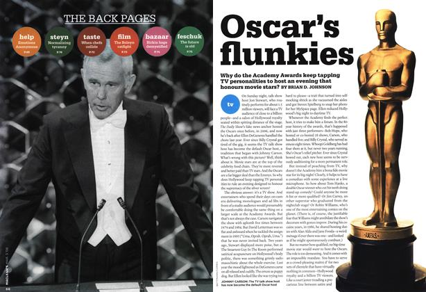 Article Preview: Oscar's flunkies, MAR. 3rd 2008 2008 | Maclean's