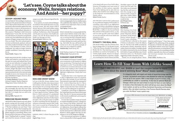Article Preview: MAIL BAG, MAR. 3rd 2008 2008 | Maclean's