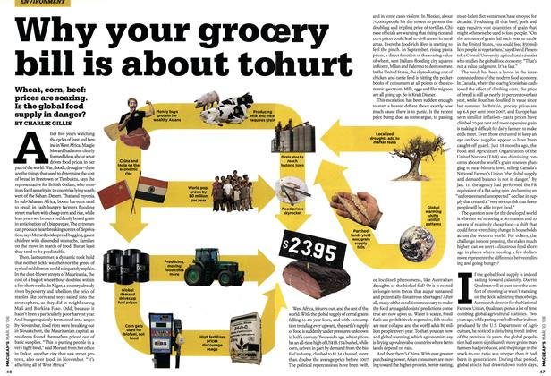 Article Preview: Why your grocery bill is about to hurt, MAR. 10th 2008 2008 | Maclean's