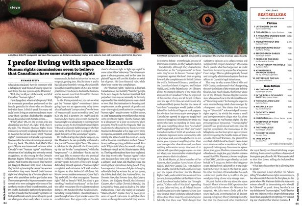 Article Preview: I prefer living with space lizards, MAR. 10th 2008 2008 | Maclean's