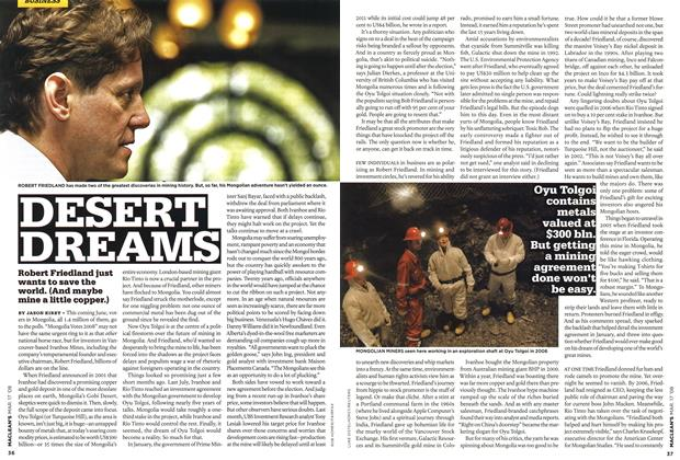 Article Preview: DESERT DREAMS, MAR. 17th 2008 2008 | Maclean's