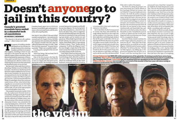 Article Preview: Doesn't anyone go to jail in this coun try?, MAR. 17th 2008 2008 | Maclean's