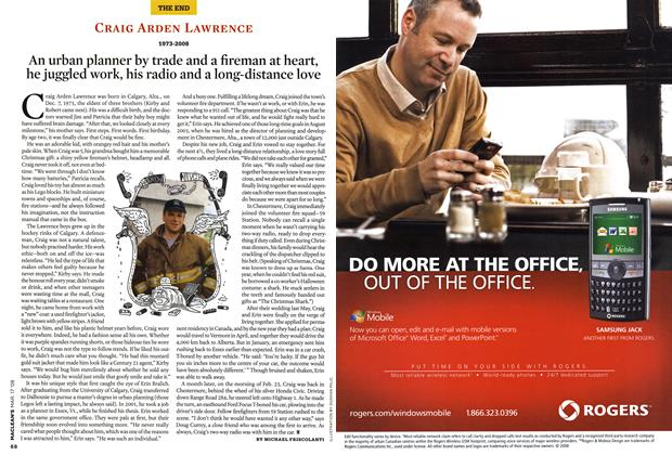 Article Preview: CRAIG ARDEN LAWRENCE 1973-2008, MAR. 17th 2008 2008 | Maclean's