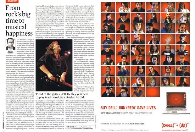 Article Preview: From rock's big time to musical happiness, MAR. 17th 2008 2008 | Maclean's
