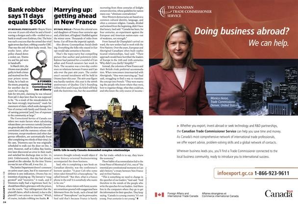 Article Preview: Marrying up: getting ahead in New France, MAR. 24th 2008 2008 | Maclean's