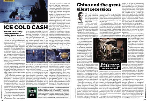 Article Preview: China and the great silent recession, MAR. 24th 2008 2008 | Maclean's
