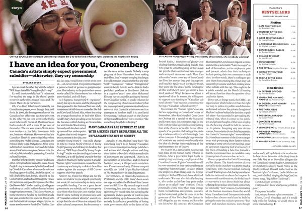 Article Preview: I have an idea for you, Cronenberg, MAR. 24th 2008 2008 | Maclean's
