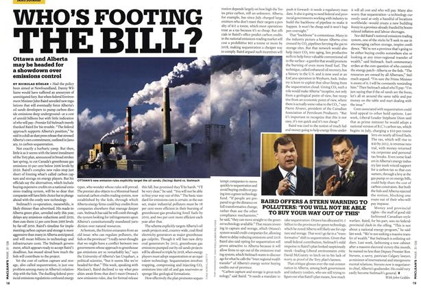 Article Preview: WHO'S FOOTING THE BILL?, MAR. 31st 2008 2008 | Maclean's