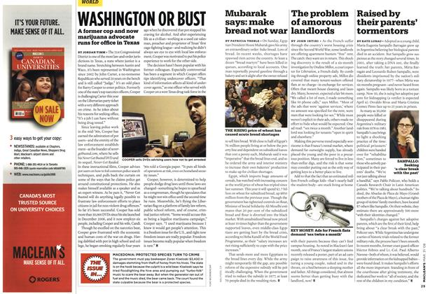 Article Preview: WASHINGTON OR BUST, MAR. 31st 2008 2008 | Maclean's