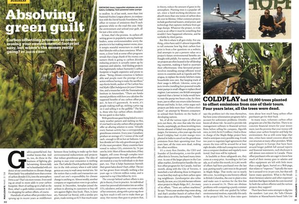 Article Preview: Absolving green guilt, MAR. 31st 2008 2008 | Maclean's