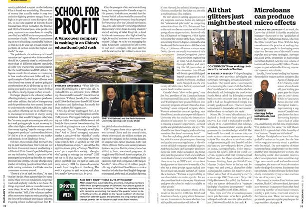 Article Preview: All that glitters just might be steel, MAR. 31st 2008 2008 | Maclean's