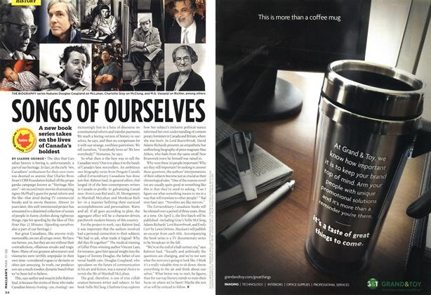 Article Preview: SONGS OF OURSELVES, MAR. 31st 2008 2008 | Maclean's