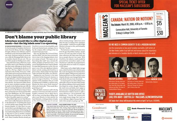 Article Preview: Don't blame your public library, MAR. 31st 2008 2008 | Maclean's