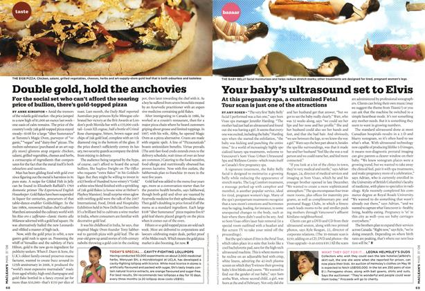 Article Preview: Double gold, hold the anchovies, MAR. 31st 2008 2008 | Maclean's