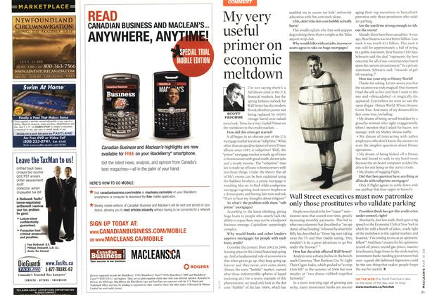 Article Preview: My very useful primer on economic meltdown, MAR. 31st 2008 2008 | Maclean's