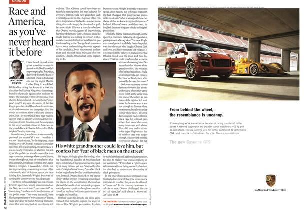 Article Preview: Race and America, as you've never heard it before, MAR. 31st 2008 2008 | Maclean's