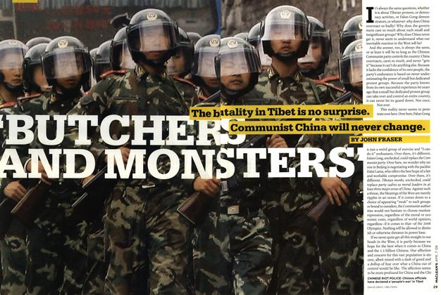 Article Preview: BUTCHERS AND MONSTERS', APR. 7th 2008 2008 | Maclean's