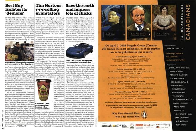 Article Preview: Tim Hortons: r-r-r-rolling in imitators, APR. 7th 2008 2008 | Maclean's
