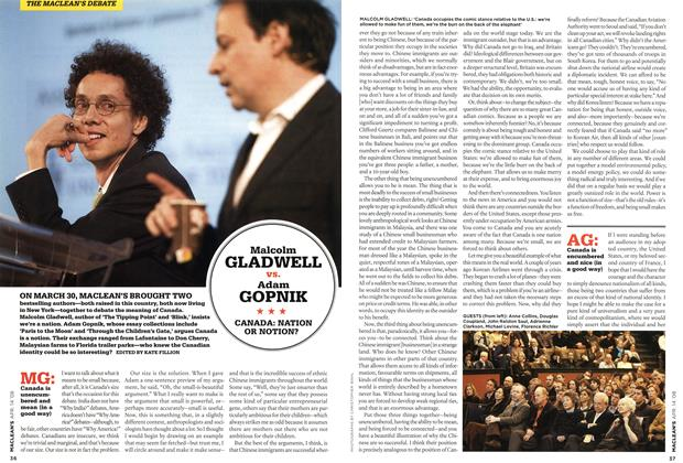 Article Preview: Malcolm GLADWELL vs. Adam GOPNIK, APR. 14th 2008 2008 | Maclean's