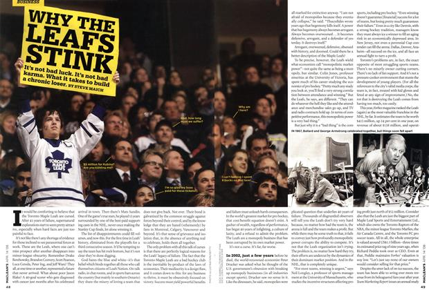 Article Preview: WHY THE LEAFS STINK, APR. 14th 2008 2008 | Maclean's