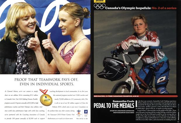 Article Preview: Samantha Cools PEDAL TO THE MEDALS I, APR. 14th 2008 2008 | Maclean's